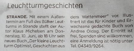 Zeitungsartikel aus dem Kieler Express vom 29 Mai 2021
