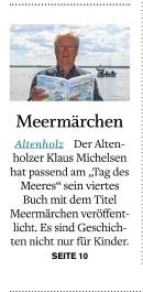 Foto vom Zeitungsausschnitt mit Foto von Klaus Michelsen