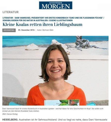 Artikel Mannheimer Morgen