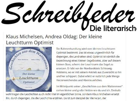 Screenshot von Schreibfeder.de mit dem Leuchtturm Optimist