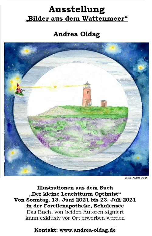 Veranstaltungsplakat Ausstellung Bilder vom Wattenmeer Andrea Oldag