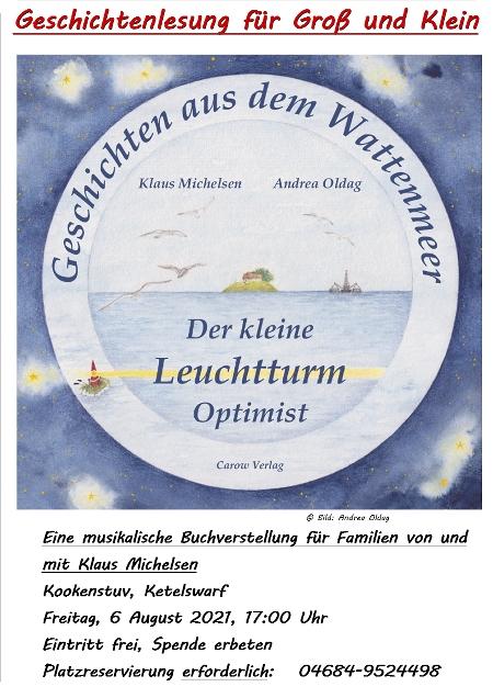 Veranstaltungsplakat von Der kleine Leuchtturm Optimist in der Kookenstuv